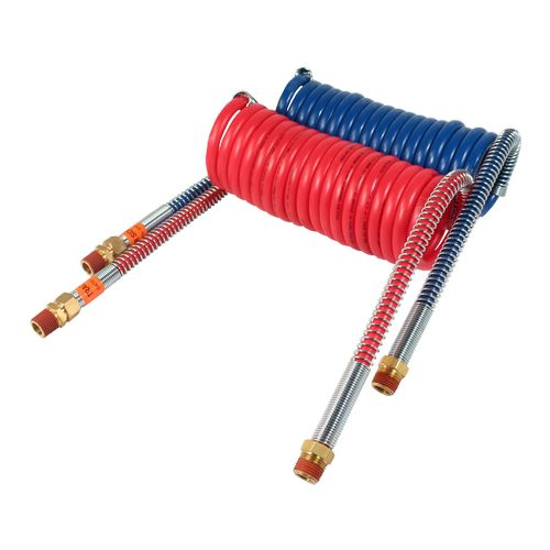 Air Brake Coil - Heavy Duty, 15 Foot Working Length, Red and… Image