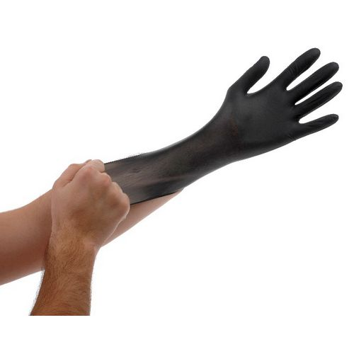 BLACK LIGHTNING GLOVES LARGE image