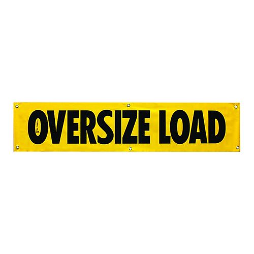 OVERSIZE LOAD SIGN 18X84 VINYL Image