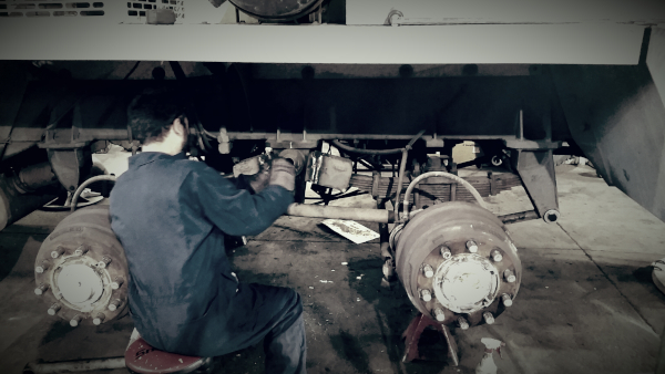 Truck Repair at Our Service Shop Photo